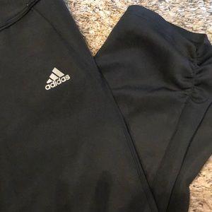 Adidas black workout fitness capris